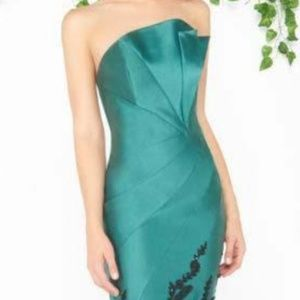 Mac Duggal Couture Emerald Green Mermaid Dress